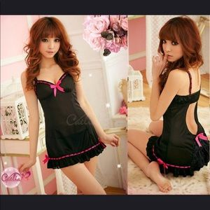 Other - ❤️❤️Sexy Black/Pink Babydoll